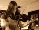 NO'Shanigans' Margaret Ball on fiddle